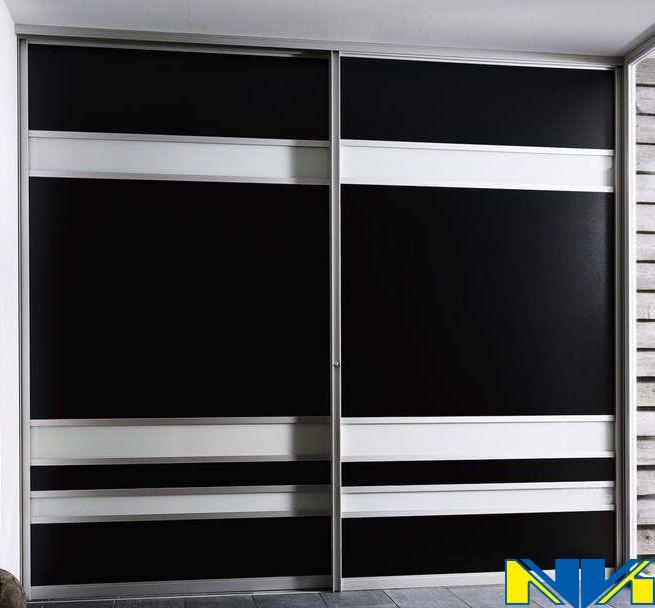 Шкафы купе черно белые